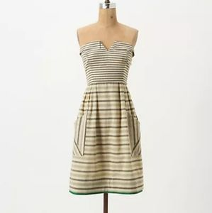 Anthropologie Maeve Strapless dress